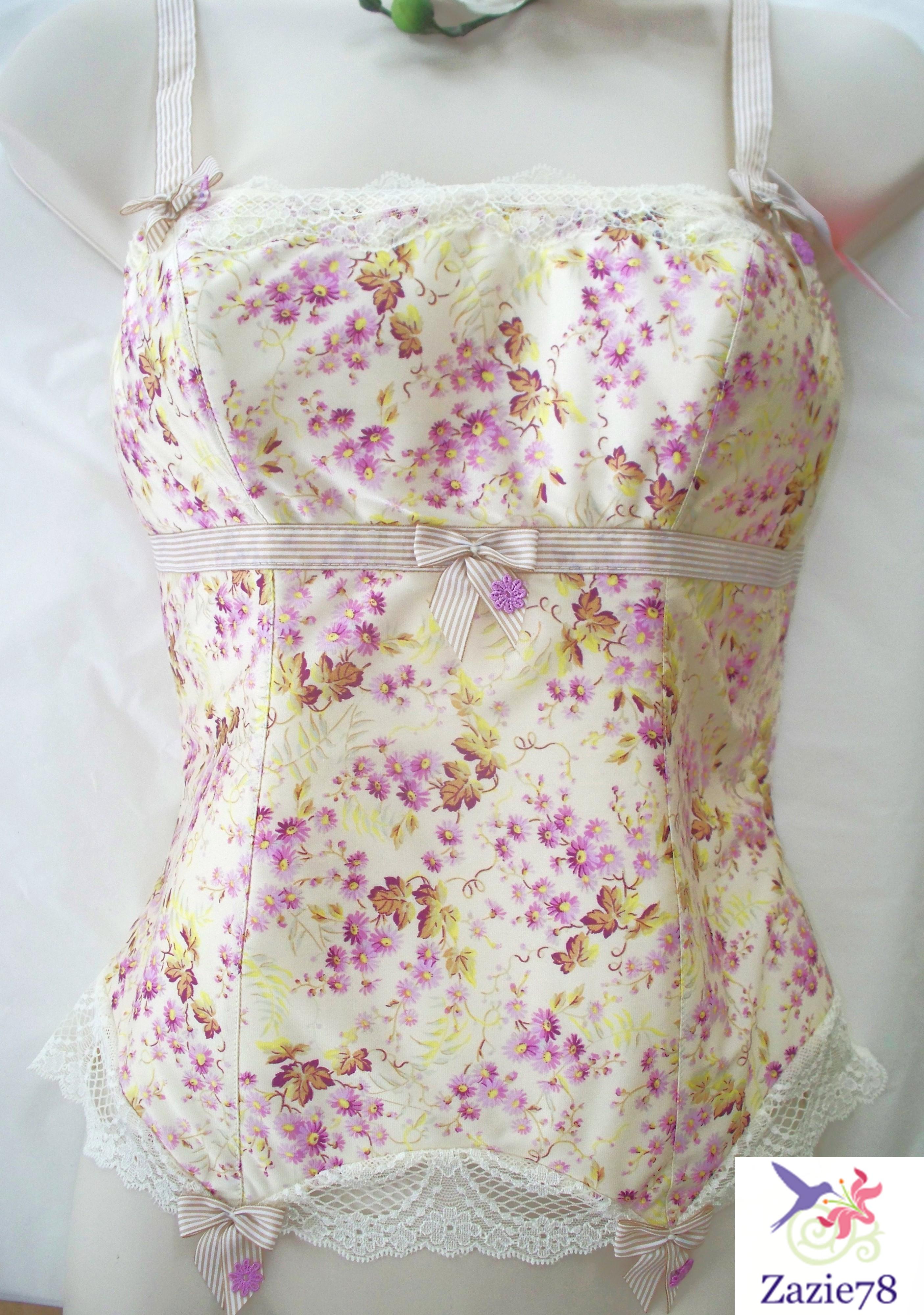 lejaby bustier camisole lila romantique et satin t 2 3 4 us s m l ebay. Black Bedroom Furniture Sets. Home Design Ideas
